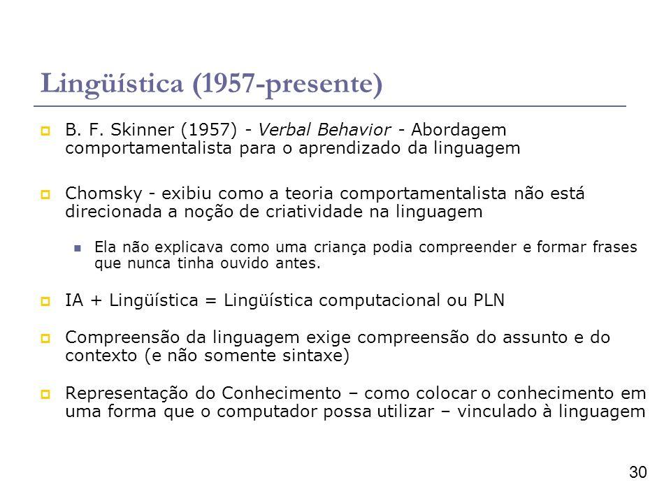 Lingüística (1957-presente)