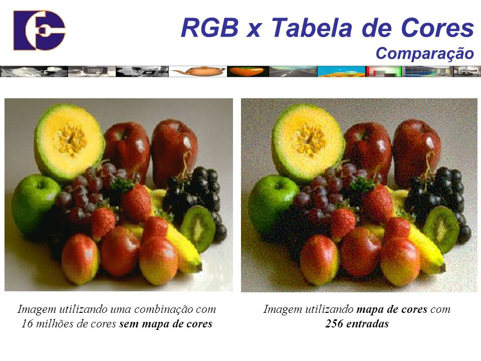 RGB x Tabela de Cores Comparação