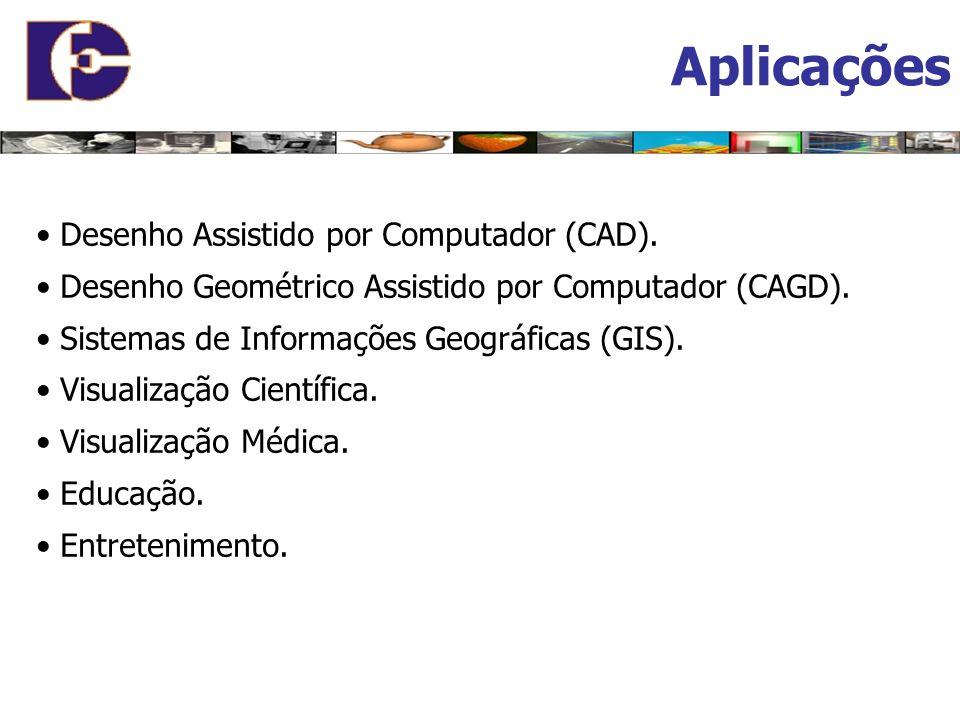 Aplicações • Desenho Assistido por Computador (CAD).