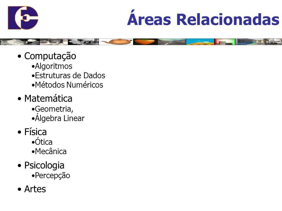 Áreas Relacionadas • Computação • Matemática • Física • Psicologia