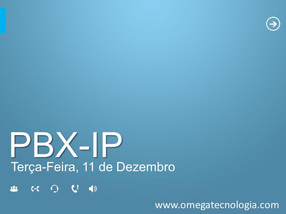 PBX-IP Terça-Feira, 11 de Dezembro