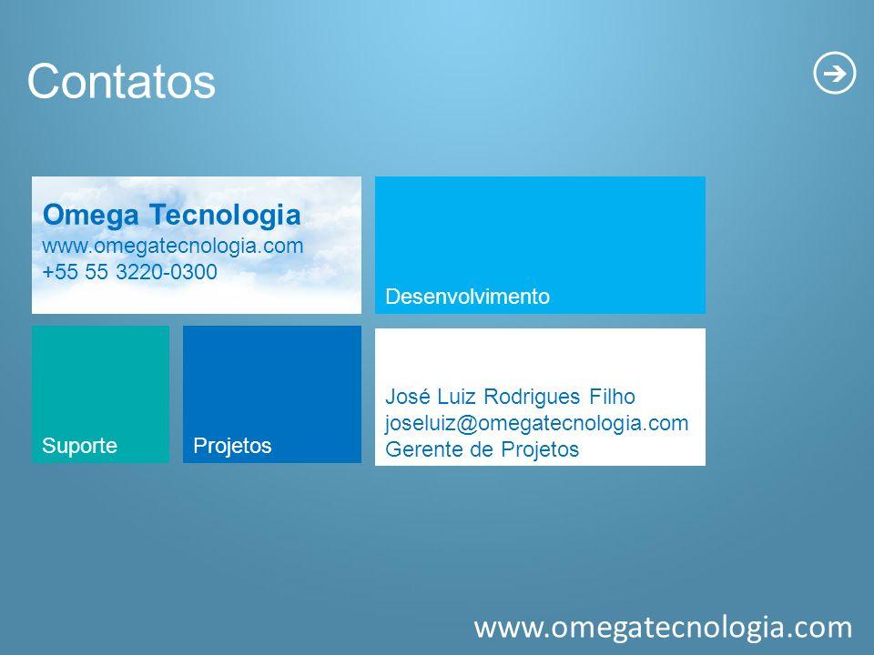 Contatos Omega Tecnologia www.omegatecnologia.com +55 55 3220-0300