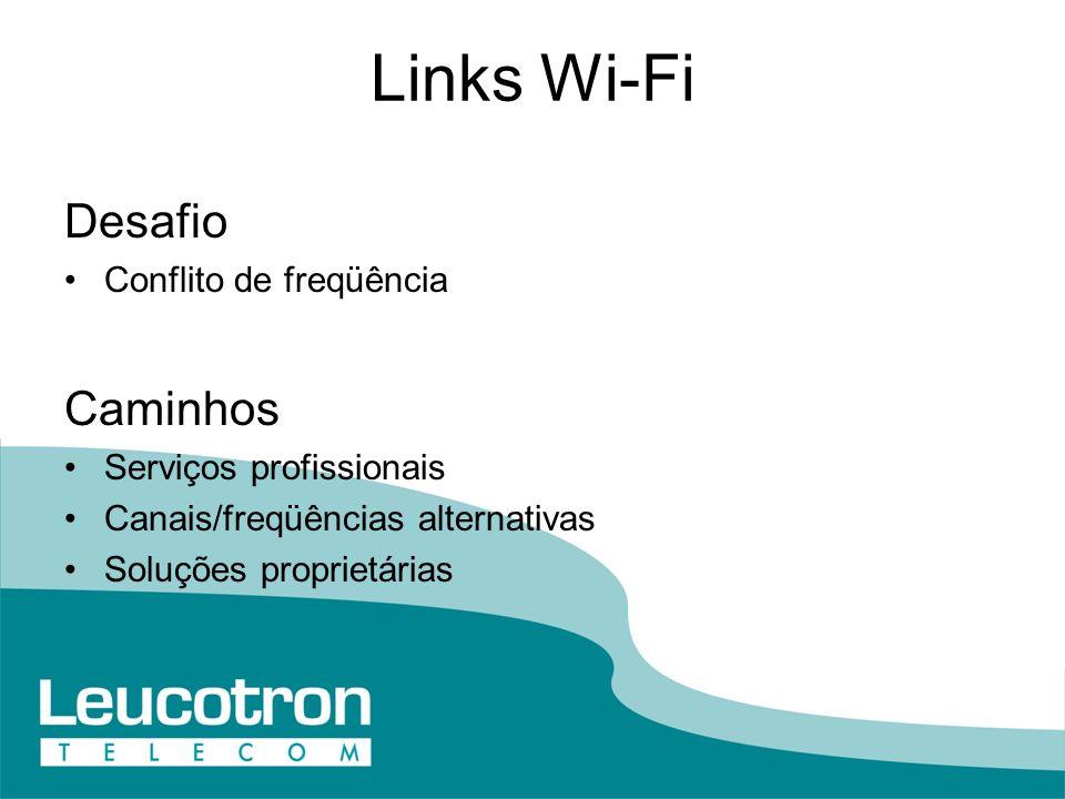 Links Wi-Fi Desafio Caminhos Conflito de freqüência