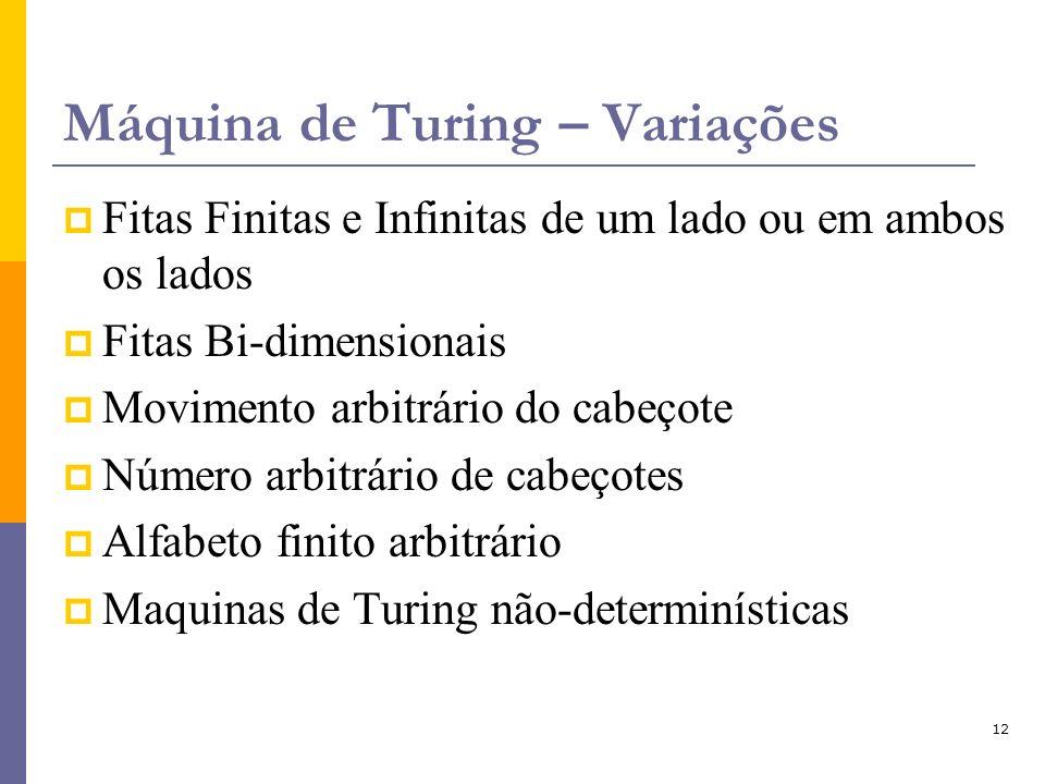 Máquina de Turing – Variações