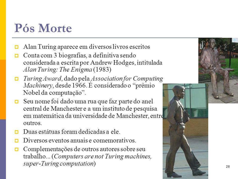 Pós Morte Alan Turing aparece em diversos livros escritos