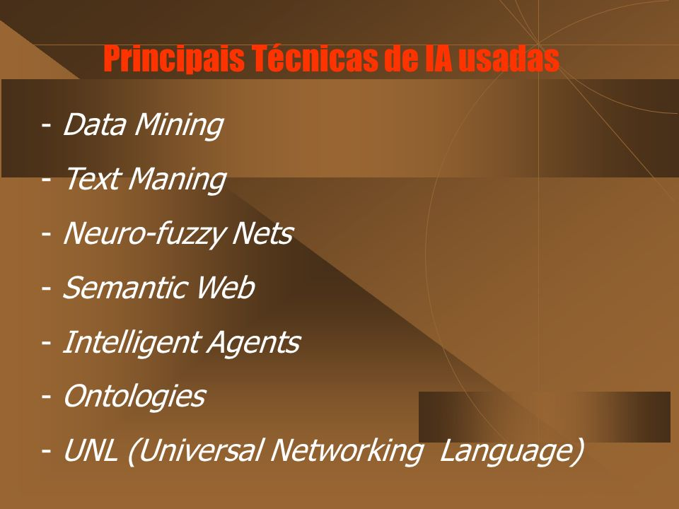 Principais Técnicas de IA usadas