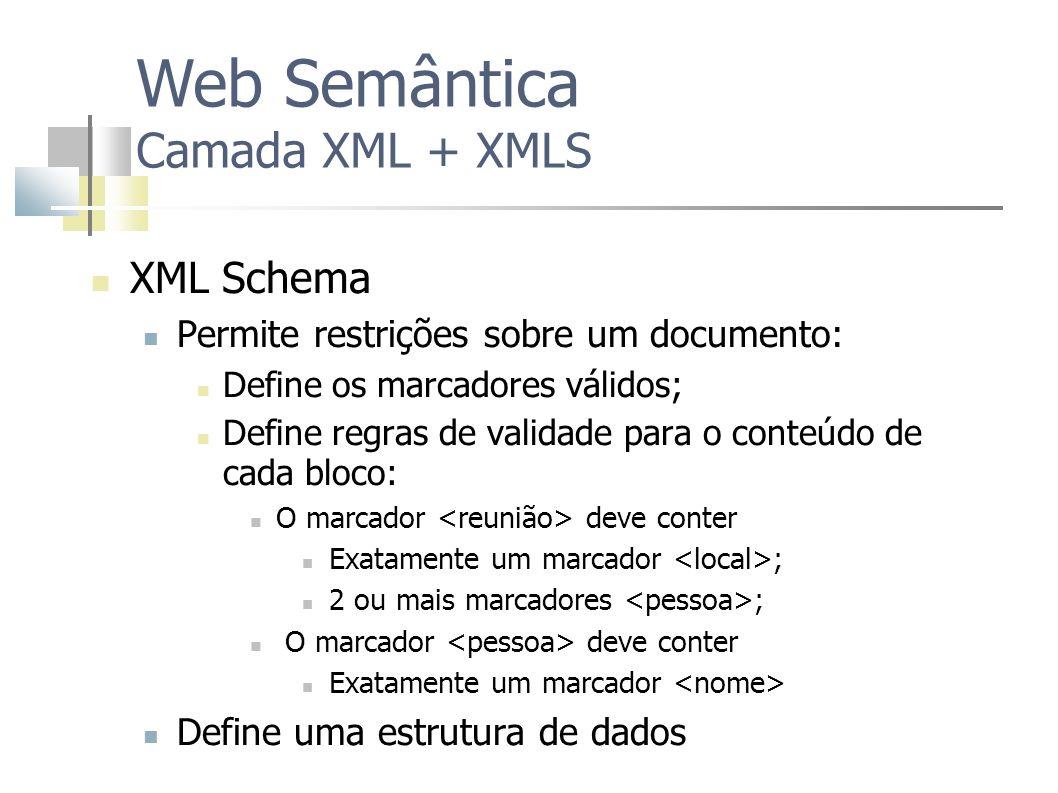 Web Semântica Camada XML + XMLS
