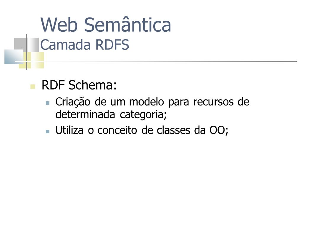 Web Semântica Camada RDFS