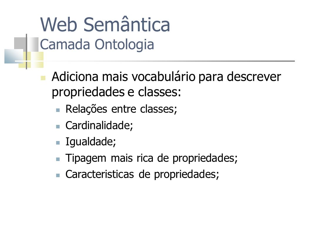 Web Semântica Camada Ontologia