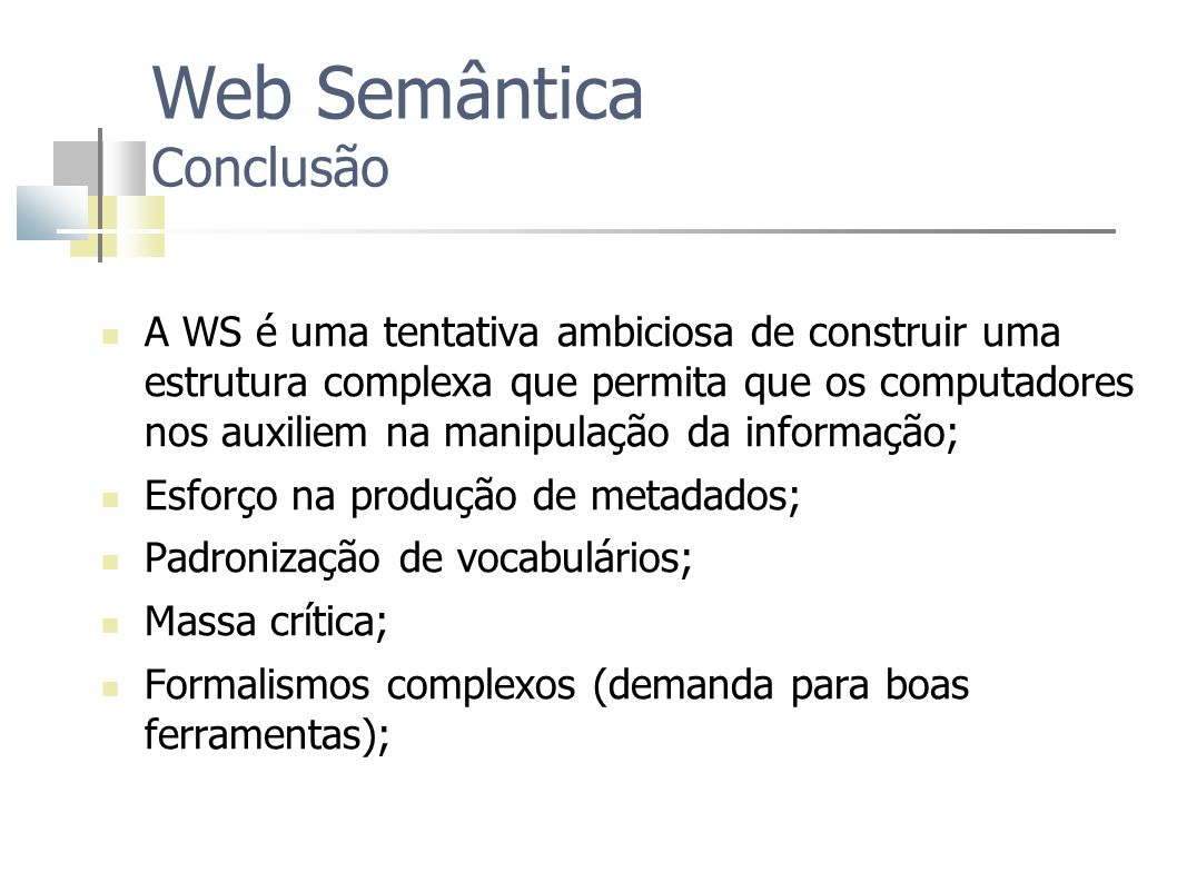 Web Semântica Conclusão