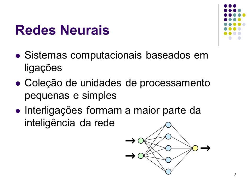 Redes Neurais Sistemas computacionais baseados em ligações