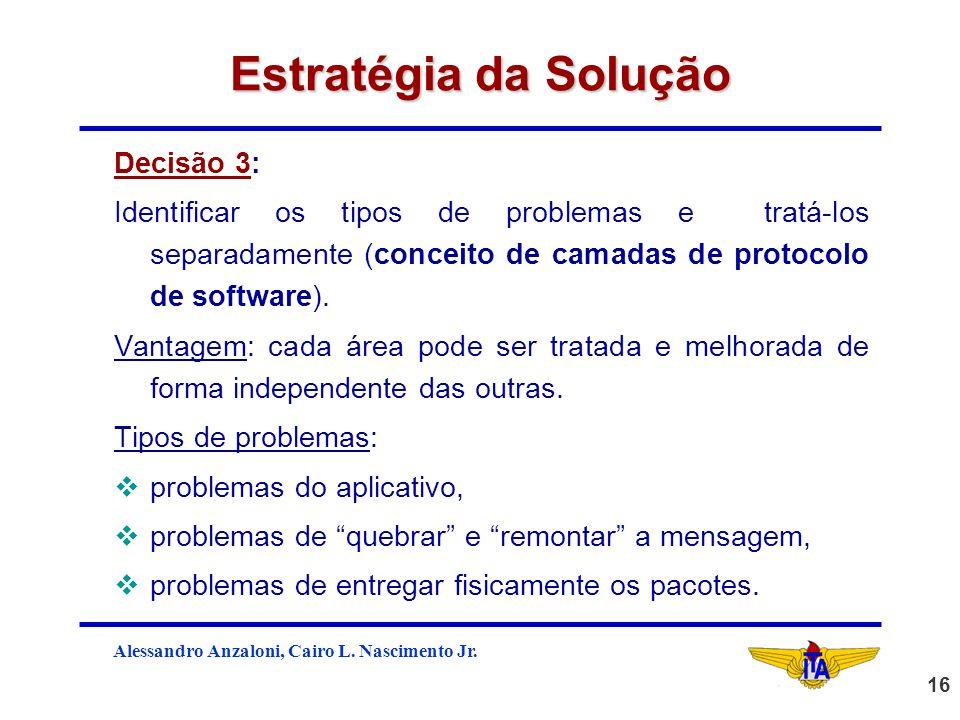 Estratégia da Solução Decisão 3: