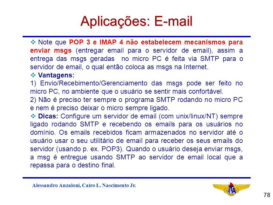 Aplicações: E-mail