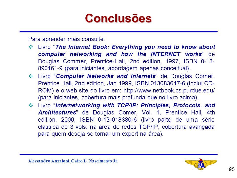 Conclusões Para aprender mais consulte: