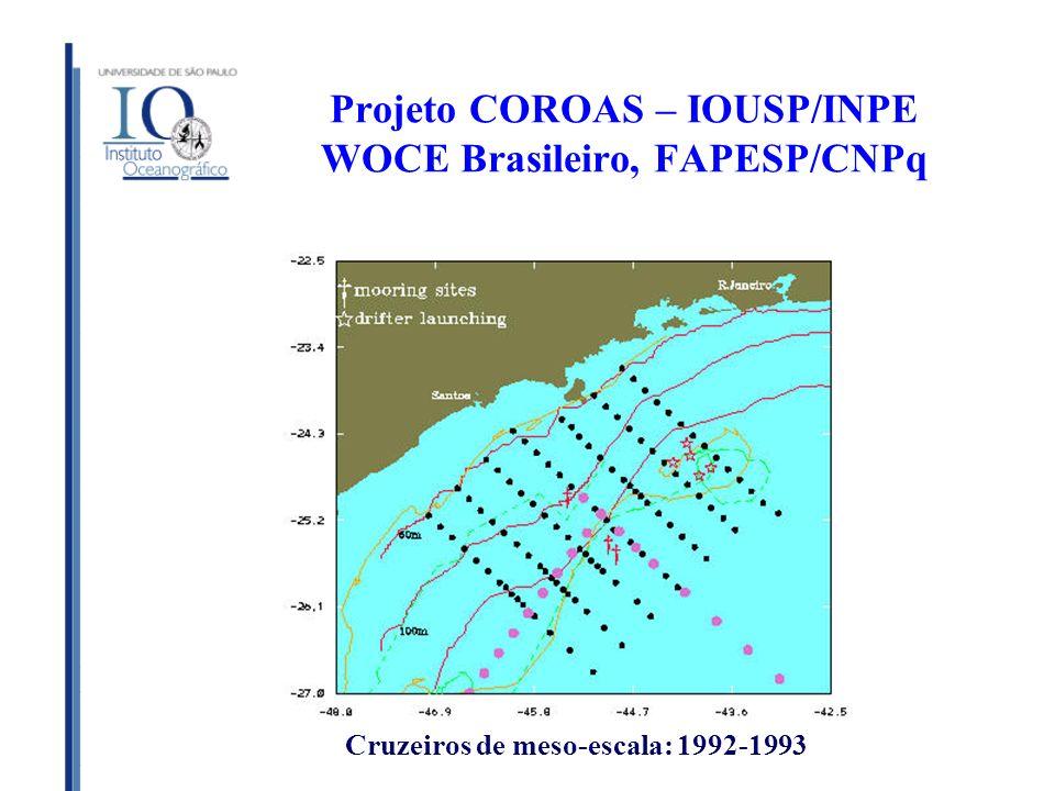 Projeto COROAS – IOUSP/INPE WOCE Brasileiro, FAPESP/CNPq