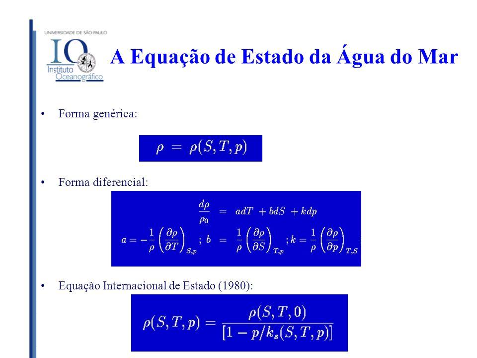 A Equação de Estado da Água do Mar