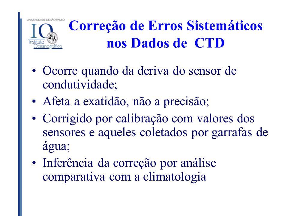 Correção de Erros Sistemáticos nos Dados de CTD