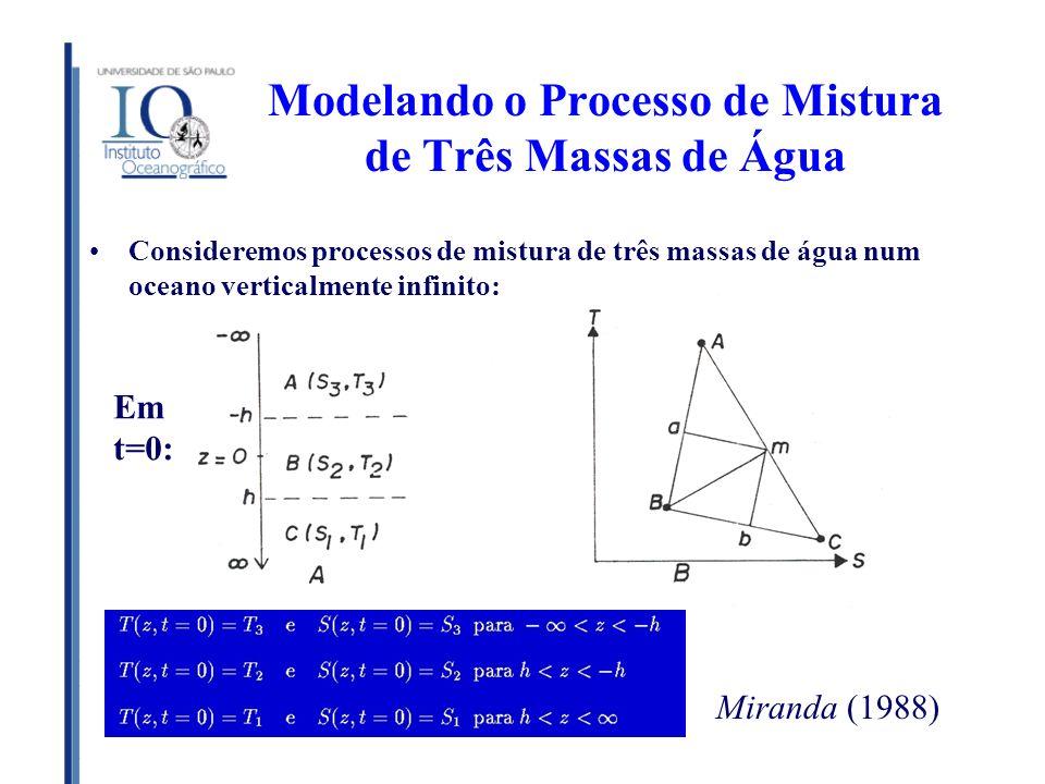 Modelando o Processo de Mistura de Três Massas de Água