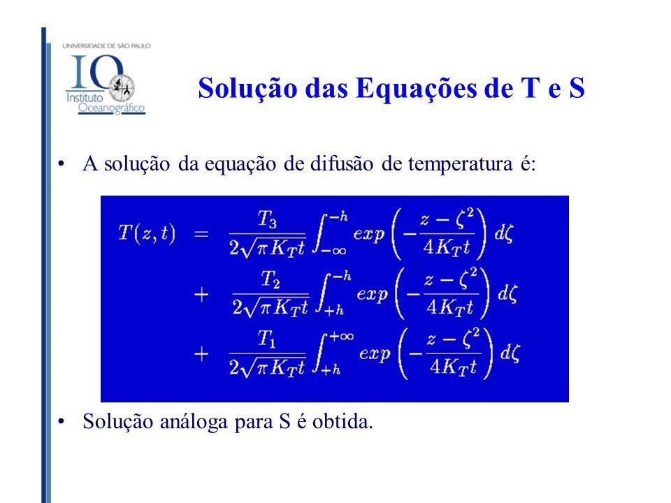 Solução das Equações de T e S