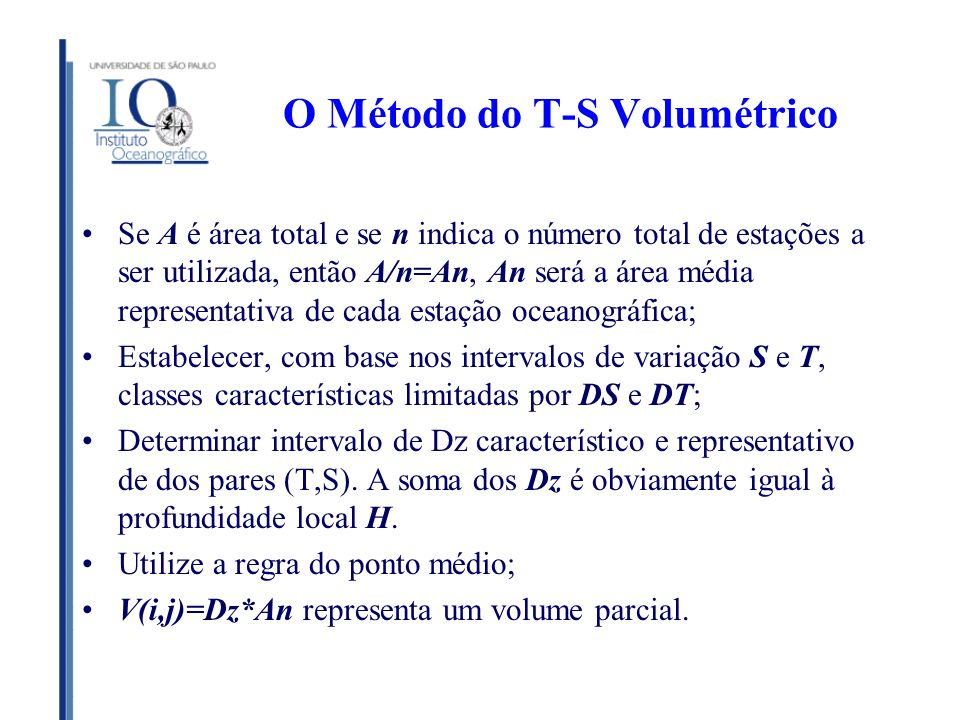 O Método do T-S Volumétrico