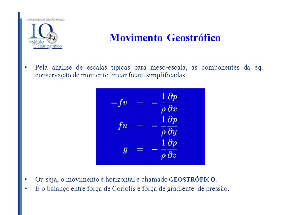 Movimento Geostrófico