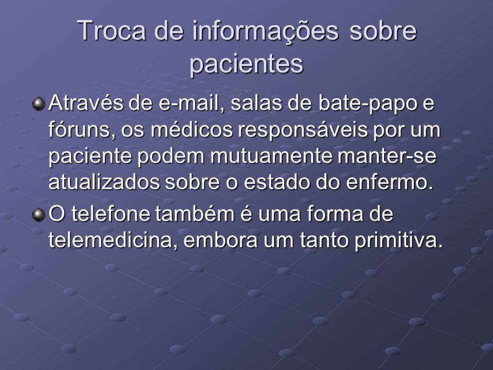 Troca de informações sobre pacientes