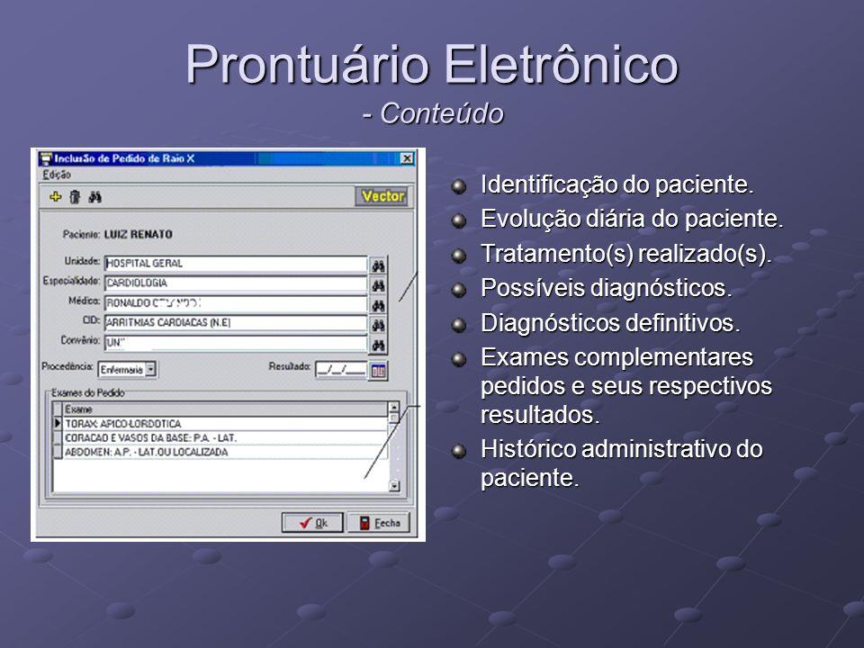 Prontuário Eletrônico - Conteúdo