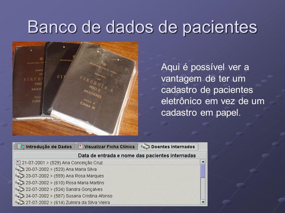 Banco de dados de pacientes