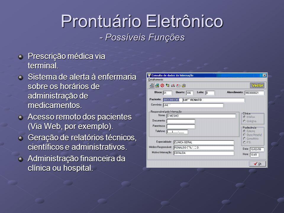 Prontuário Eletrônico - Possíveis Funções