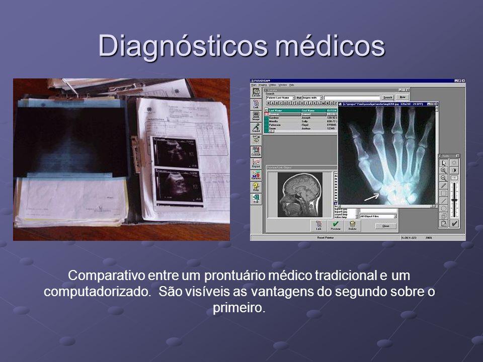 Diagnósticos médicos Comparativo entre um prontuário médico tradicional e um computadorizado.