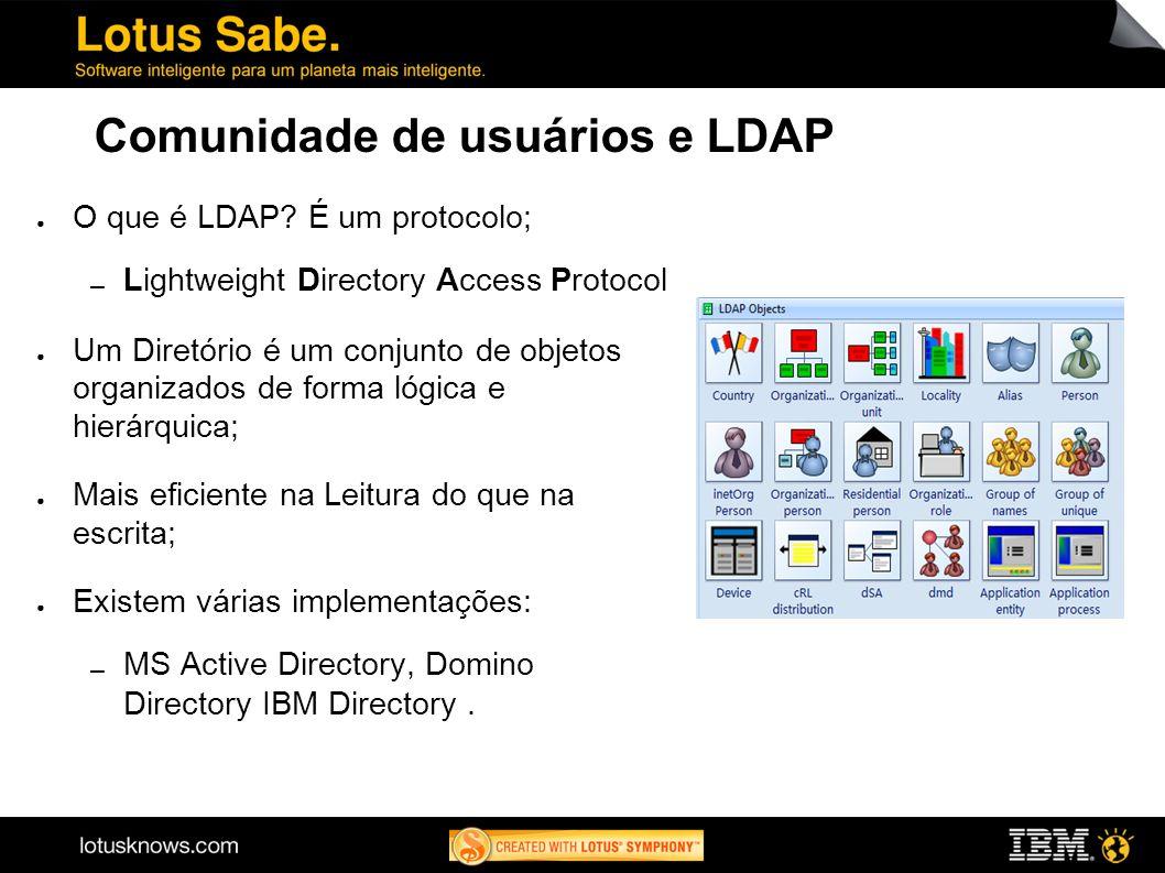 Comunidade de usuários e LDAP