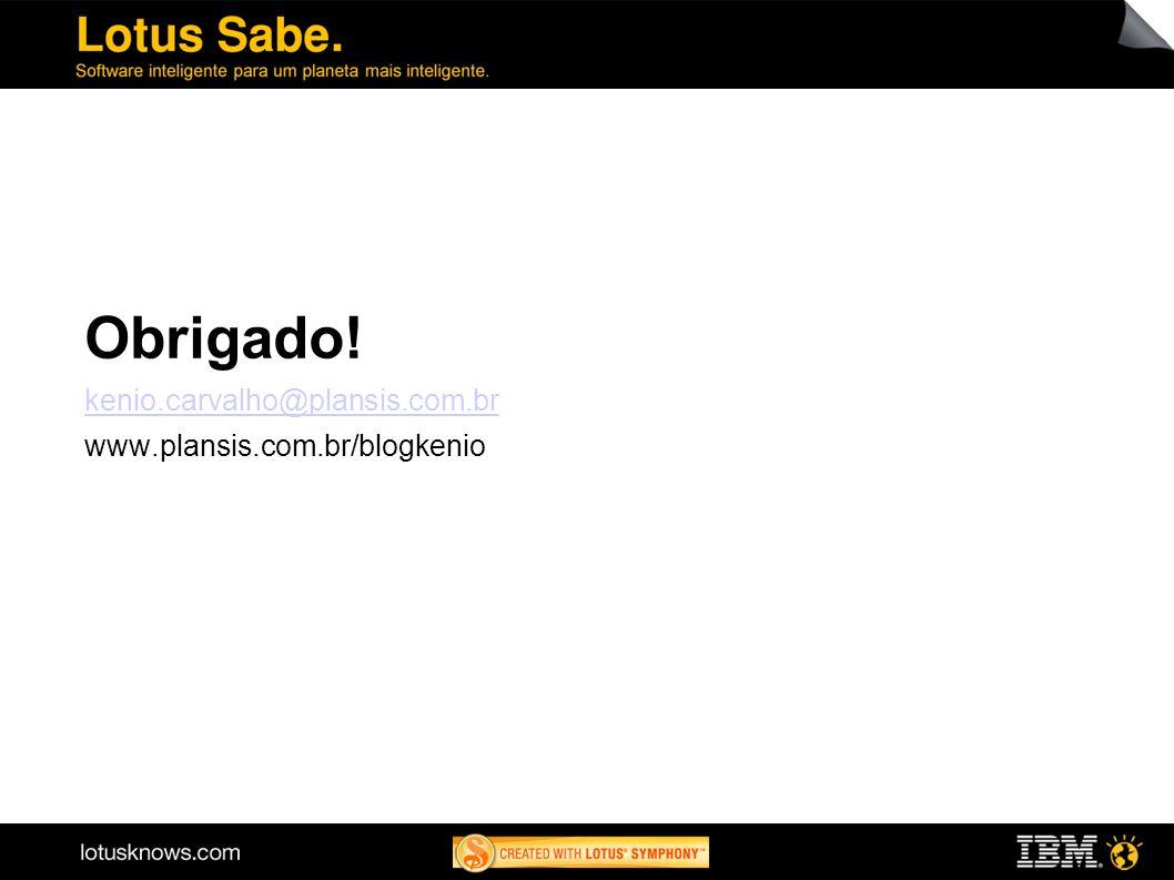 Obrigado! kenio.carvalho@plansis.com.br www.plansis.com.br/blogkenio