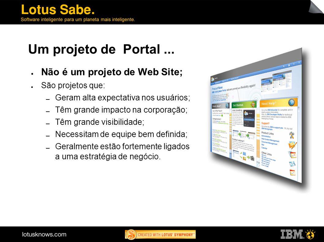 Um projeto de Portal ... Não é um projeto de Web Site;