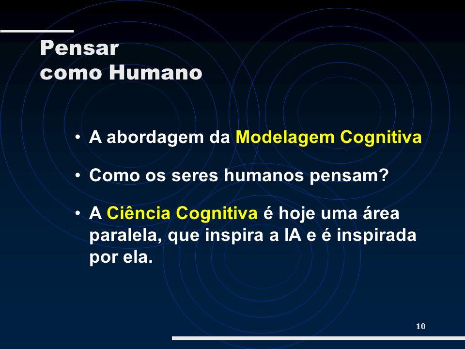 Pensar como Humano A abordagem da Modelagem Cognitiva
