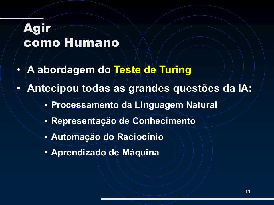 Agir como Humano A abordagem do Teste de Turing