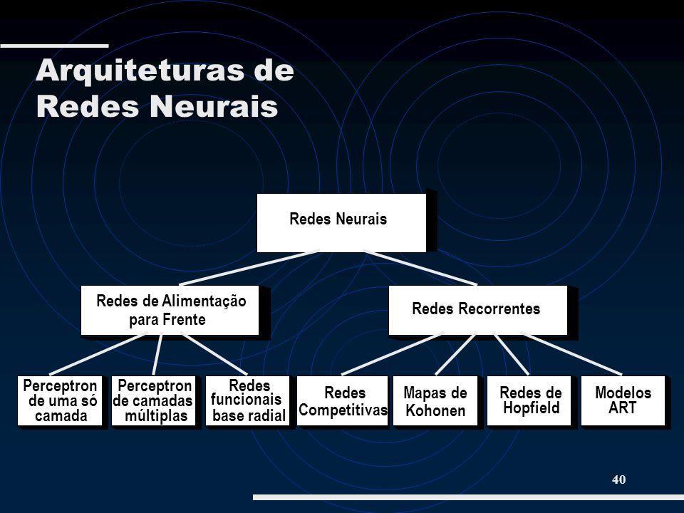 Arquiteturas de Redes Neurais