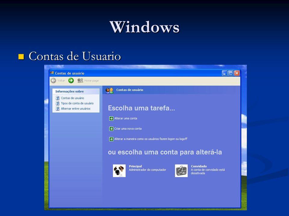 Windows Contas de Usuario