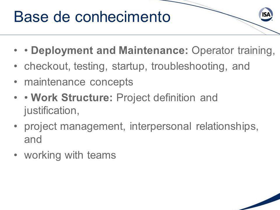 Base de conhecimento • Deployment and Maintenance: Operator training,