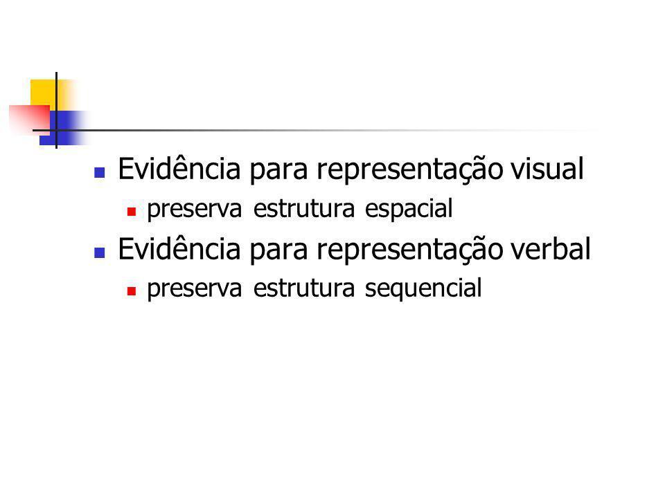 Evidência para representação visual