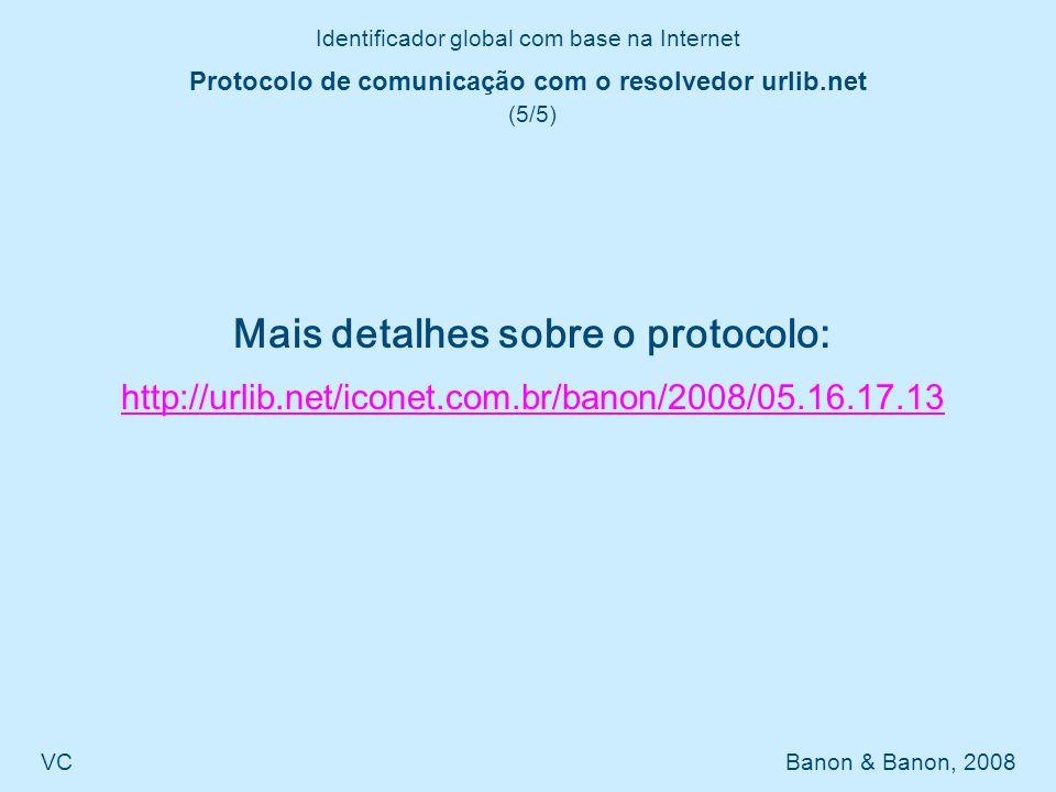 Protocolo de comunicação com o resolvedor urlib.net (5/5)