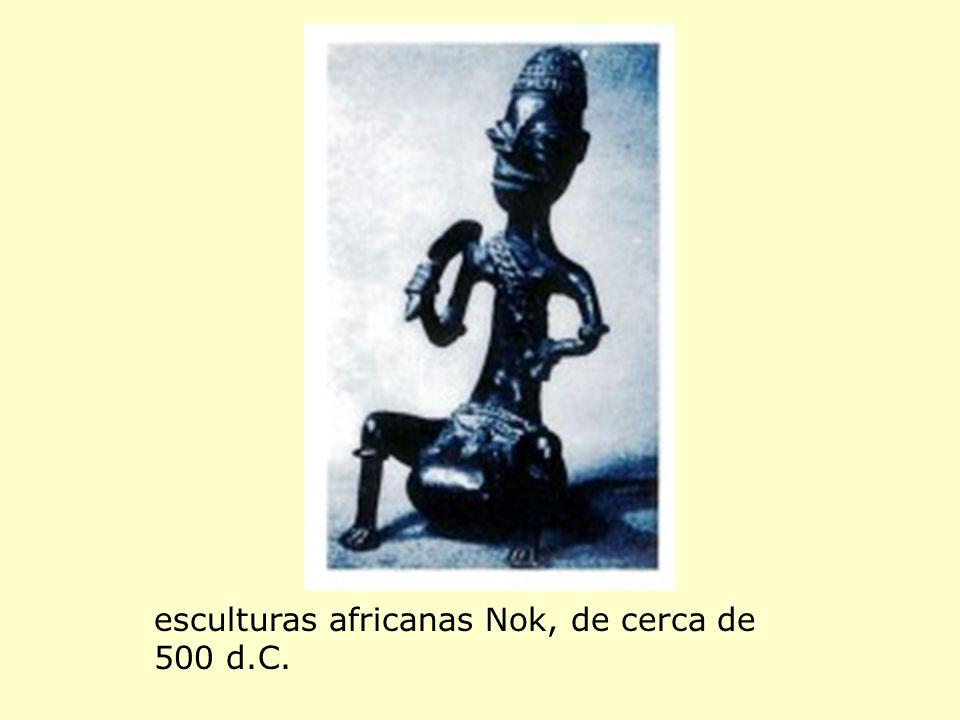 esculturas africanas Nok, de cerca de 500 d.C.