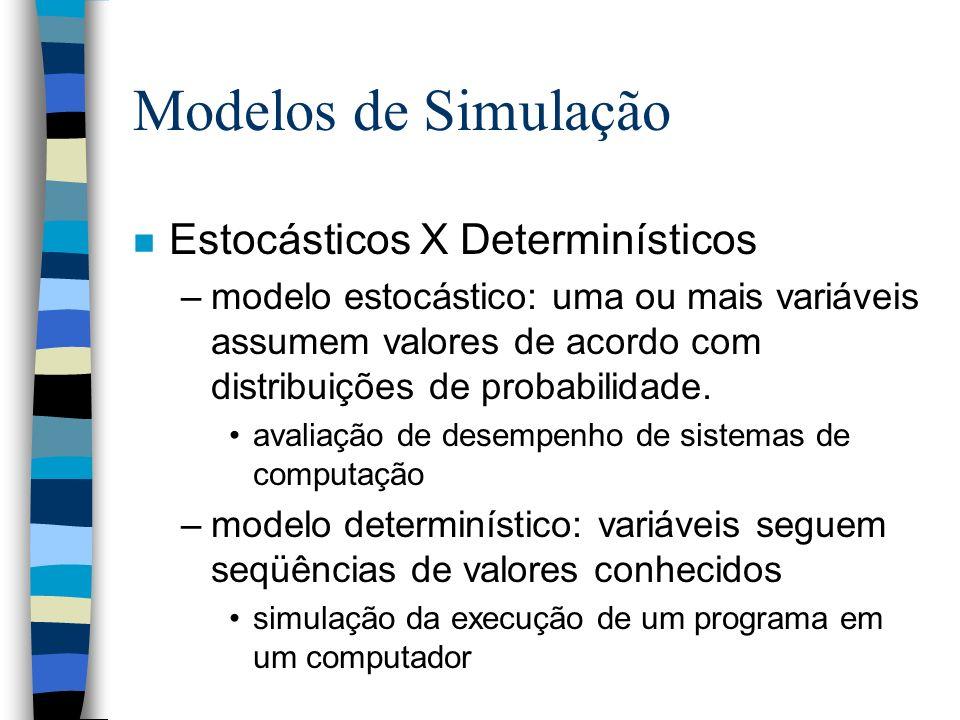 Modelos de Simulação Estocásticos X Determinísticos