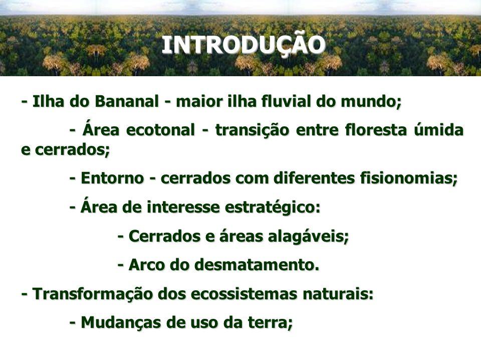 INTRODUÇÃO - Ilha do Bananal - maior ilha fluvial do mundo;