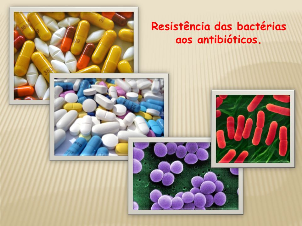 Resistência das bactérias aos antibióticos.