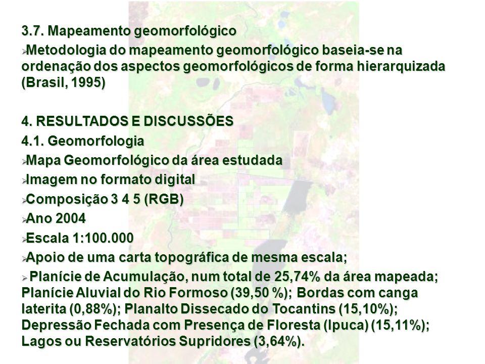 3.7. Mapeamento geomorfológico