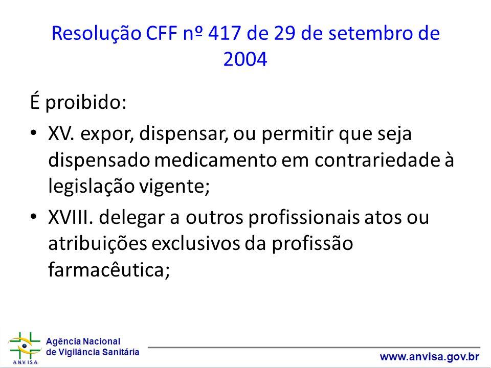 Resolução CFF nº 417 de 29 de setembro de 2004