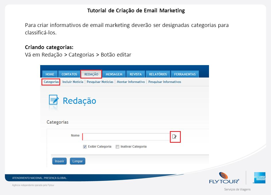 Tutorial de Criação de Email Marketing