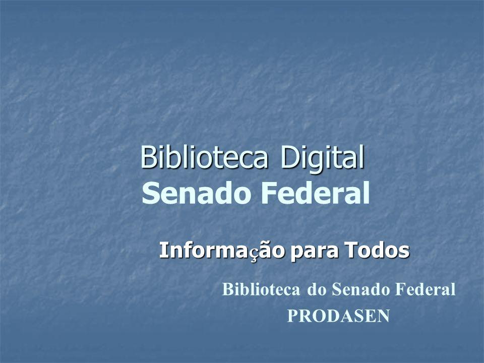 Biblioteca Digital Senado Federal