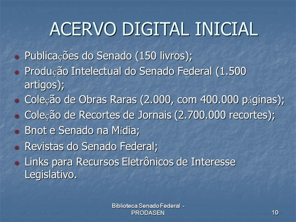ACERVO DIGITAL INICIAL