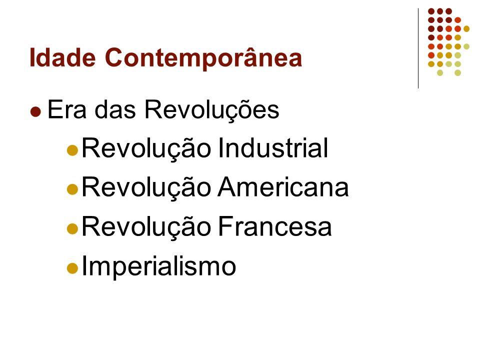 Revolução Industrial Revolução Americana Revolução Francesa